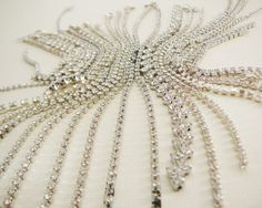 Vintage .. Rhinestone Chain Bits and Pieces Clear by dibabeads, $25.00
