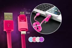 2-in-1 USB Charging Cable - 4 Colours!