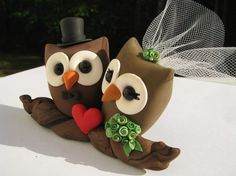 alexia dives posted Owl Cake Toppers to their -wedding cakes- postboard via the Juxtapost bookmarklet. Custom Wedding Cake Toppers, Wedding Topper, Wedding Cakes, Owl Cake Toppers, Diy Cake Topper, Owl Wedding, Wedding Ideas, Wedding Stuff, Fondant