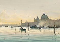 Joseph Zbukvic, 1952 | Watercolour Cityscape painter | Tutt'Art@ | Pittura * Scultura * Poesia * Musica |
