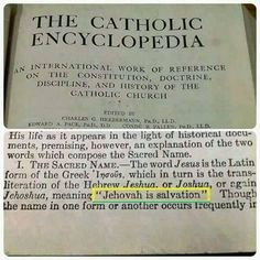 "Note that the Catholic Encyclopedia shows the meaning of the name ""Jesus"". It means: "" JEHOVAH IS SALVATION"". So WHY did they remove the name of God from the Douay Catholic Bible? Jehovah Names, Names Of Jesus, Psalm 83, Jehovah S Witnesses, Jehovah Witness, Bible Truth, Jesus Christ, Savior, Decir No"