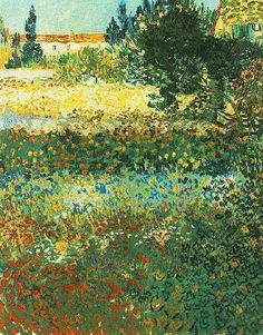 Flowering Garden    Oil on canvas  92.0 x 73.0 cm.  Arles: July, 1888  F 430, JH 1510    New York: private collection