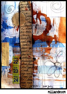 art journal techniques - Milliande's