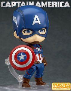 Nendoroid-Captain-America-Heros-Edition-01 Marvel Captain America, Ms Marvel, Chibi Marvel, Marvel Comics, Marvel Heroes, Marvel Characters, The Avengers, Avengers Series, Anniversaire Captain America