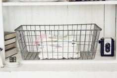 Vintage Wire Locker Basket by blondiensc on Etsy, $38.50