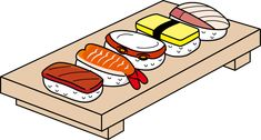 Sushi names and illustrations
