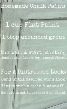 home made chalk paint