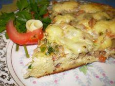 Receita de Torta -Pizza rápida de sardinha - Tudo Gostoso