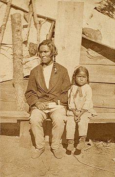 Ojibwa Father and Son c1870