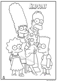 The Simpsons Coloring Pages 14