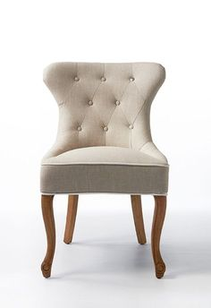 4 x George Dining Chair lin Flax/White (Riviera Maison)