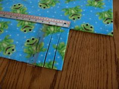 """Fleece blankies - 1 1/2 yds of fabric.  Cut down to 54"""", cut our 6""""square from each corner and then cut 1"""" wide fringe."""