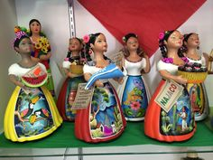 Made in Tonala, Jalisco, Mexico:: Mexican Crafts, Mexican Folk Art, Mexican Style, Ceramic Figures, Ceramic Art, Corn Husk Dolls, Cultural Crafts, Mexican Ceramics, Mexican Party