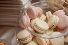 Ivory and blush macaroons to match the wedding decor
