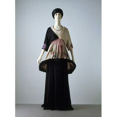Edwardian - Sorbet  Object: Evening dress  Place of origin: Paris, France (made)  Date: 1912 (designed)  Artist/Maker: Paul Poiret, born 1879 - died 1944 (designer)  Materials and Techniques: Silk chiffon and satin, embroidered with glass beads, and trimmed with fur