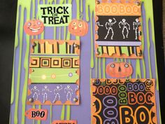 2 premade scrapbook pages  happy halloween by mysecrethobby, $17.00