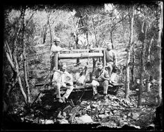 Gold minehead and gold miners, Hill  Gold minehead and gold miners, Hill End-Tambaroora, Australia, ca. 1870. Pinned by the State Library of New South Wales