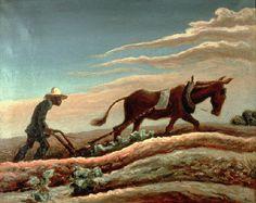 Sociaal realisme. kenmerken: ~ realiteit wordt herkenbaar afgebeeld ~ er wordt een arbeider/boer afgebeeld. een positieve/hardwerkende 'held' moest de hoofdrol krijgen in het werk. ~ arbeid wordt afgebeeld