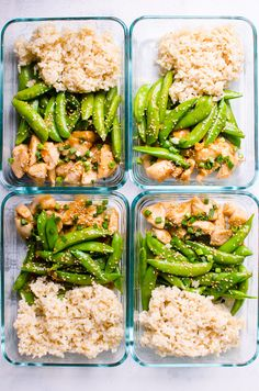 Clean Eating Diet Healthy Teriyaki Chicken Meal Prep with lean chicken breast and bright crispy snap peas coated in healthy teriyaki sauce, served with brown rice. This lunchbox will make your co-workers jealous! Healthy Family Meals, Healthy Meal Prep, Healthy Foods To Eat, Healthy Snacks, Healthy Eating, Family Recipes, Simple Healthy Meals, Lunch Meal Prep, Simple Recipes