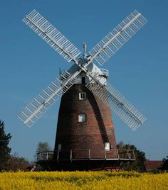 I would love to live in an old windmill. This one is in Thaxted, Essex