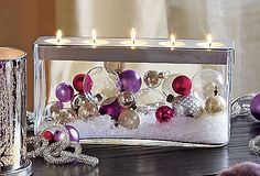 Customizable Tealight Centerpiece- love this. could so be done DIY- without the candle topper though.