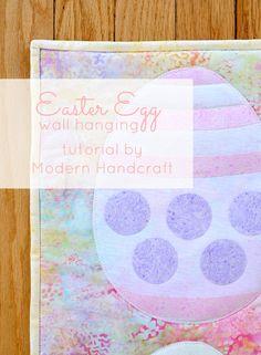 www.modernhandcraft.com Easter Egg Wall Haning tutorial