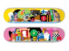 Decks for Enjoi.  by illustrators Craig & Karl.