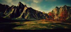 Location in the Spotlight : Binemist - II Spotlight, Platform, Sky, Mountains, Nature, Travel, Painting, Heaven, Naturaleza
