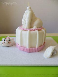 Tutorial - Cake Topper Minou, gattina degli Aristogatti - Cake Topper Marie, kitty from Aristocats