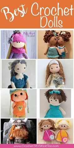 If you know me at all, you know that I love a good doll. I can tell you every doll I owned as a child..come join me as I look at the best crochet dolls.