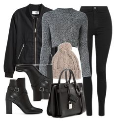 A fashion look from November 2016 featuring wool shirt, bomber jackets and skinny jeans. Browse and shop related looks. Winter Fashion Outfits, Edgy Outfits, Cute Casual Outfits, Fall Outfits, Grunge Outfits, Casual Mode, Looks Black, Looks Chic, Polyvore Outfits