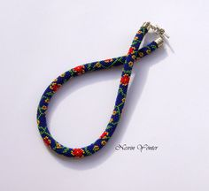 DİSCOUNT-Valentine Day Gift-Red Flowers Bead Crochet by beadssea