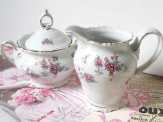 Antique Creamer and Sugar Sets | vintage cream and sugar set german porcelain porcelain creamer vintage ...