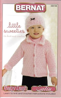 Little Sweeties Knitting & Crochet Patterns for Girls Sizes 12 Months to 4 Years, Cardigan and Hat, Cozy vest, Mesh Poncho, Quilt Look Vest by OnceUponAnHeirloom on Etsy