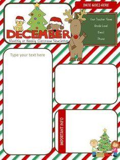cute December newsletter