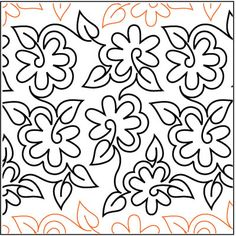 Meandering Daisy pantograph pattern by Patricia Ritter of Urban Elementz