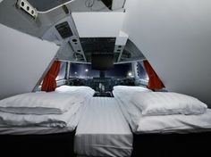 Jumbo Jet #Hotel in #Sweden- stay on the ground in a luxury #suite in a converted cockpit with a panoramic view of the airport.