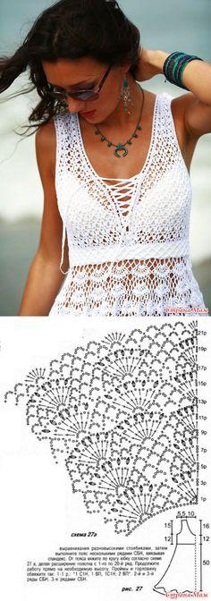 Вяжем вместе белоснежноe платье - Вяжем вместе он-лайн - Страна Мам