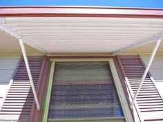 Beautiful photo - go look at our guide for more ideas! Aluminum Window Awnings, Porch Windows, Indoor Outdoor, Outdoor Decor, Home And Living, Canopy, Interior Decorating, New Homes, Ideas Para