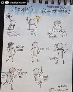 - Doodles-of-People-Sketchbook-Prompts. - – Doodles-of-People-Sketchbook-Prompts.jpg Sie sind a - Sketchbook Prompts, Sketchbook Drawings, Doodle Drawings, Easy Drawings, Art Sketches, Les Doodle, Doodle Art, Note Doodles, Simple Doodles