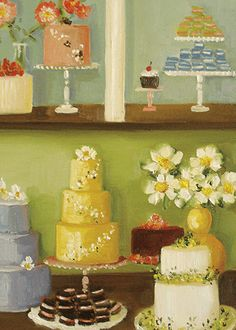 Janet Hill #cakes #weddings