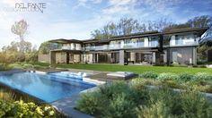 New Contemporary Constantia home_ Del Fante Design Architects_ Cape Town Contemporary design House  #Architecture #ContemporaryHouse #DarkGrey #Concrete #Design