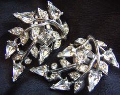 Glitzy glamorous vintage clip rhinestone earrings available at TreasureBoxAntiqueUS on Etsy (scheduled via http://www.tailwindapp.com?utm_source=pinterest&utm_medium=twpin&utm_content=post126228115&utm_campaign=scheduler_attribution)