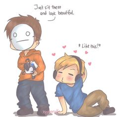 Pewdiepie and Cry portal :] lol XD