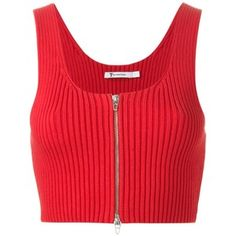 T By Alexander Wang Ribbed Knit Cropped Top