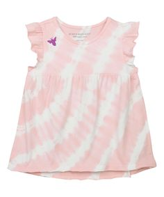 Your little one will feel special this spring in this girls' Burt's Bees Baby tie dye stripe tee. In pink/white. Baby Tie, Kids Tie Dye, Cute Baby Girl, Sleeve Designs, Striped Tee, Flutter Sleeve, Organic Cotton, Summer Dresses, Tees