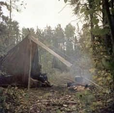 This is a Baker Tent. One of my old Scoutmasters used to camp in one like this.