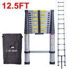12.5FT Aluminum Multi Purpose Ladder Telescoping Telescopic Extension Folding