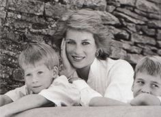 Princess Diana with Will and Harry.