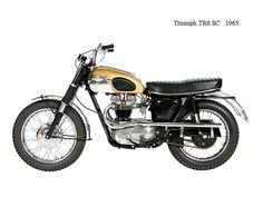 Triumph 1965 - 5 Minute Histories: Triumph Trophy - The Desert Sled Triumph Scrambler, Triumph Bonneville, Triumph Motorcycles, Vintage Bikes, Vintage Motorcycles, Indian Motorcycles, Custom Motorcycles, Custom Bikes, Desert Sled